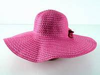 Соломенная шляпа Котьир 48 см розовый