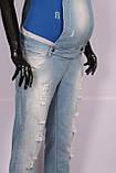Джинсовый Комбинезон для беременных , фото 5