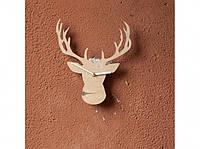 Деревянные часы Рогатый олень