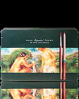 Набор цветных акварельных карандашей NEW Marco AQUA fineart 48 цветов Марко в металле+кисточка