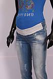 Джинсы бойфренды  для беременных с потертостями. размеры s- xl., фото 3