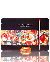Набор цветных карандашей NEW Marco fineart 48 цветов Марко в металле