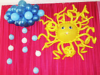 Солнышко и тучка с дождиком для оформления зала сад, школа