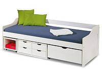 Кровать FLORO 2 90x200 белый Halmar