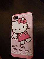 Чехол TPU для iPhone 4/4S Hello Kitty