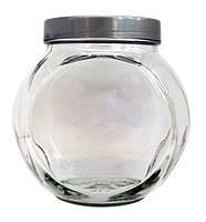 Банка стеклянная с крышкой серая Everglass 1730 мл, фото 1