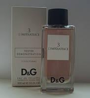 Женская туалетная вода D&G L`Imperatrice 3 100 мл ОАЭ (тестер без крышечки духи дольче габбана императрица)