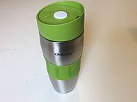 Термостакан (термокружка без ручки) 380мл зеленый (Польша)