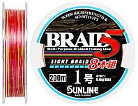 Шнур Sunline Super Braid 5 (8 Braid) 200m #1.0/0.165мм 6.1кг