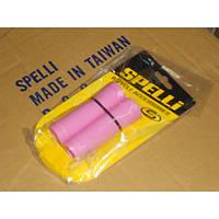 Грипсы на руль SPELLI SBG-660S 90мм, розовые
