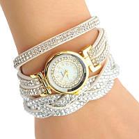 Женские наручные часы со стразами Relogio Feminino белые