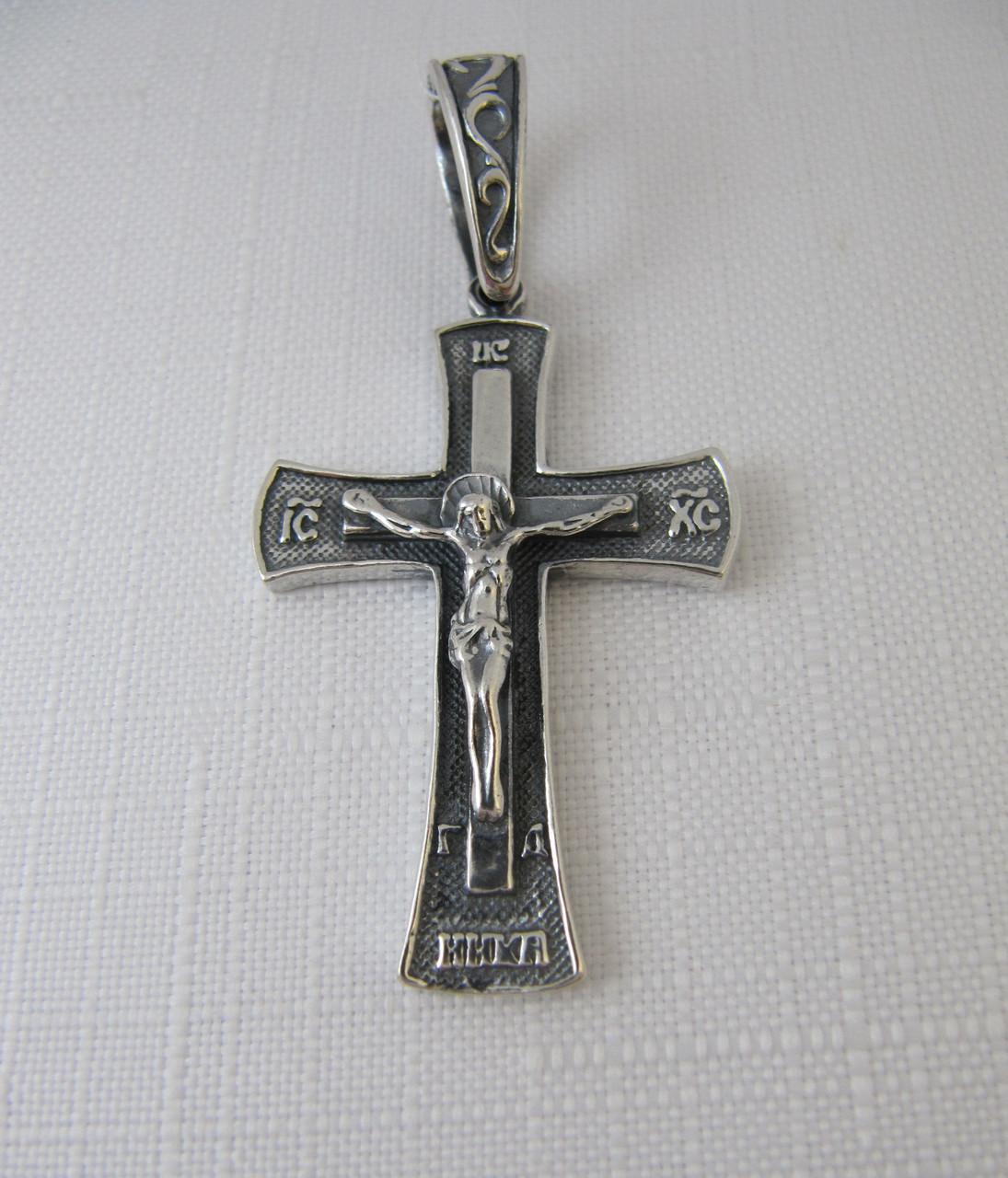 Серебря Крест большой 925* черненый с распятием, фото 1