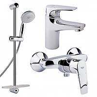 Комплект смесителей для ванной комнаты Grohe Bauflow 121630