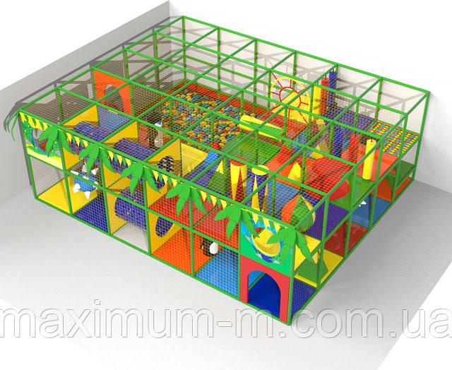 Двухэтажный детский лабиринт