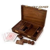 Профессиональные игральные карты для покера домино и кости кубики GS185