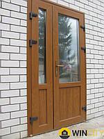 Двери металлопластиковые KBE золотой дуб