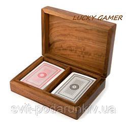 Оригинальные игральные карты для покера в подарочном футляре WBS111