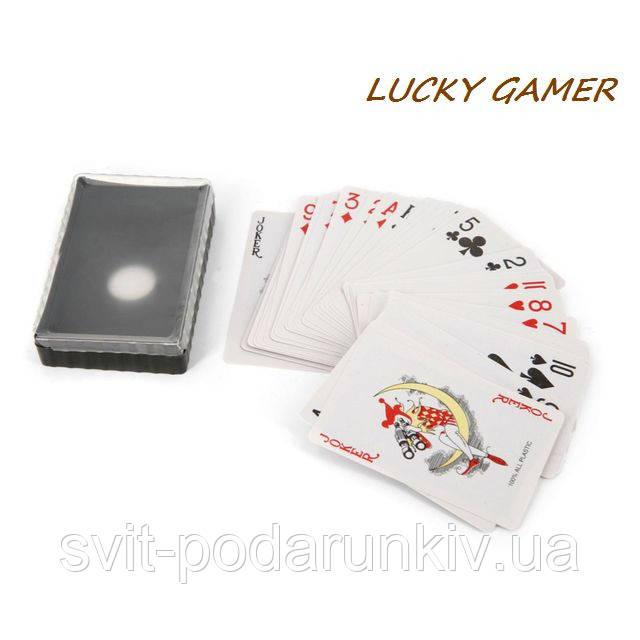 Пластиковые игральные карты для игры в покер классические СS232