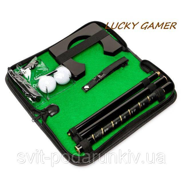 Набор мини гольфа для офиса футляре из кожи прессованной MPS3039