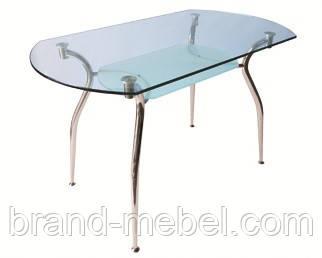 Стол стеклянный Кристал прозрачный
