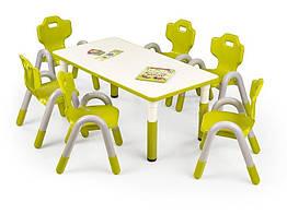 Стол обеденный пластиковый SIMBA зеленый Halmar