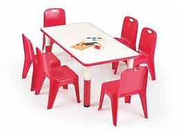 Стол обеденный пластиковый SIMBA красный Halmar