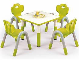 Стол обеденный пластиковый SIMBA квадратный зеленый Halmar