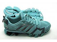 Кроссовки Женские Adidas Bounce Flyknit бирюзовые, фото 1