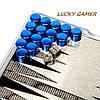 Маленькие мини магнитные нарды дорожные в пластиковой коробке MPS3000, фото 6