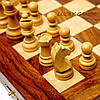 Набор игр шашки шахматы нарды из дерева палисандра GS160, фото 3
