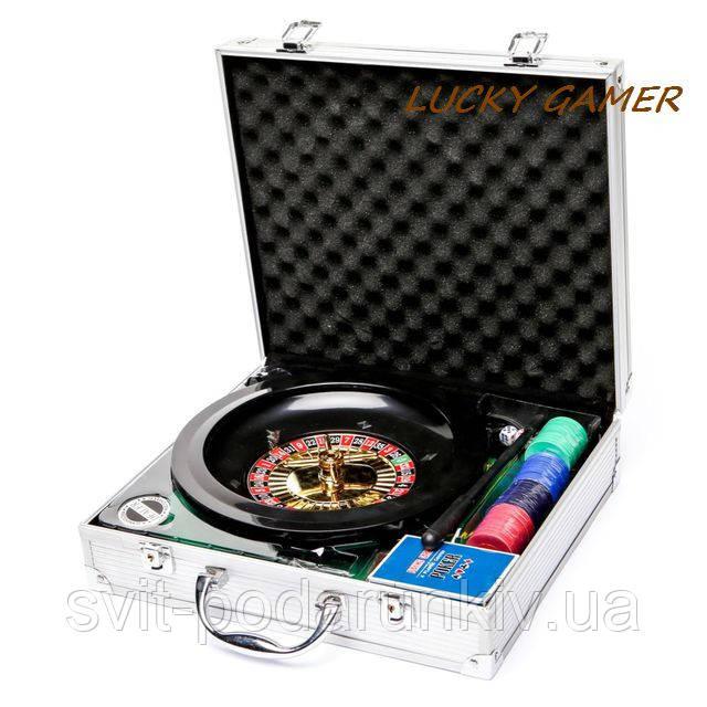 Набор для игры в покер и рулетка в металлическом кейсе RSS1060A