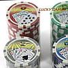 Покерный набор на 100 фишек с номиналом в кейсе DMS100NA, фото 4