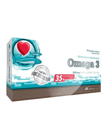 Omega 3 60 kaps (35%) 1000 mg blister box 60 caps Olimp Labs , фото 2