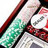 Набор для игры в покер в деревянной коробке 100 фишек с номиналом WS-1, фото 3