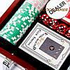 Набор для игры в покер в деревянной коробке 100 фишек с номиналом WS-1, фото 4