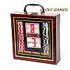 Набор для игры в покер в деревянной коробке 100 фишек с номиналом WS-1, фото 6