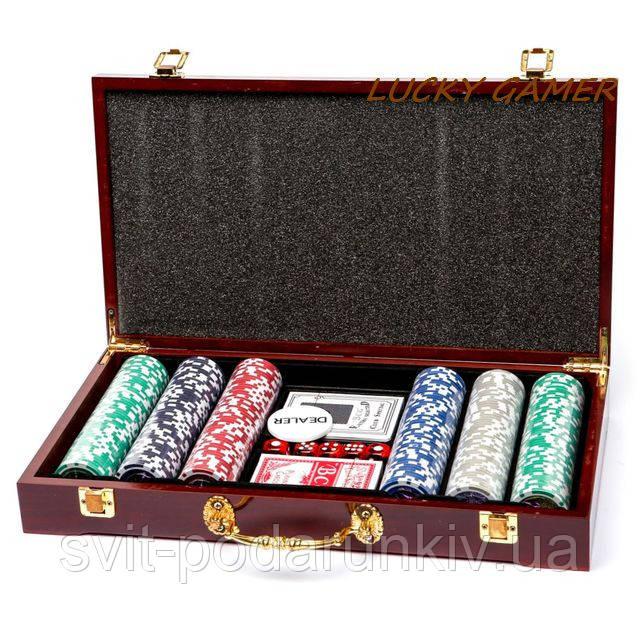 Набор для покера на 300 фишек с номиналом WS-3-1
