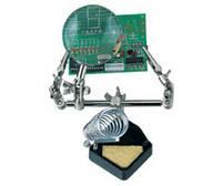 Держатель ZD10G с лупой d=65mm с подставкой для паяльника