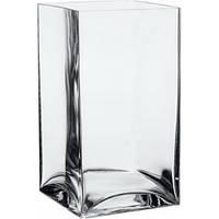Квадратная ваза для цветов 22см стекло