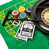 Настольная игра рулетка и покерный набор с фишками в подарочной коробке RSS1060T, фото 2