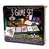 Настольная игра рулетка и покерный набор с фишками в подарочной коробке RSS1060T, фото 3