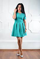 """Нарядное женское платье  """"183"""" бирюзовый"""
