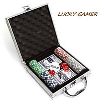 Покерный набор на 100 фишек в кейсе DM100