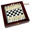 Шахматы стеклянные настольные в коробке из дерева и стекла малые, фото 4
