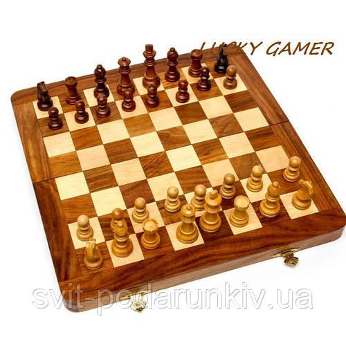 Настольные шахматы из дерева GS112 резные с классическими фигурками