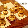 Настольные шахматы из дерева GS112 резные с классическими фигурками , фото 3
