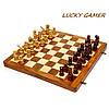 Необычные шахматы оригинальные с фигурками резными GS140D из палисандра