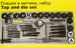 Набор плашек и метчиков Sigma 1601041 (40 предметов), фото 3