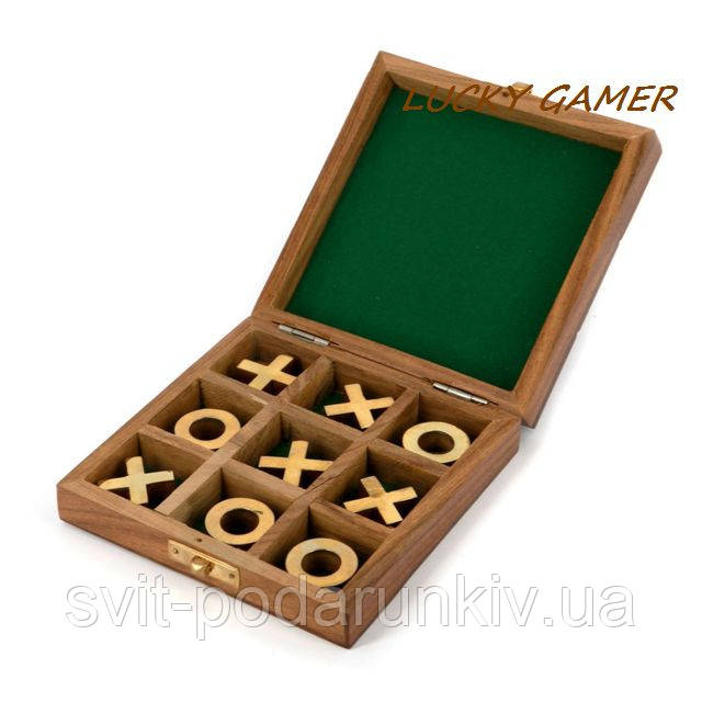 Игра в крестики нолики на двоих GS155 в футляре из палисандра