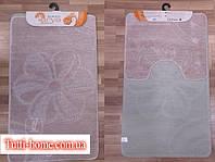 Набор ковриков для ванной и туалета  Arya  Моно 1150 розовый